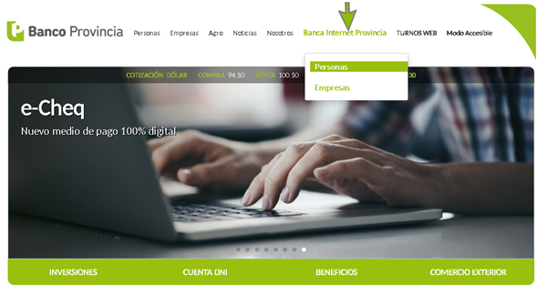 Acceso a Home Banking